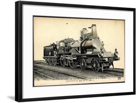 Eisenbahnen, Frankreich, Dampflokomotive Bec, Tender--Framed Art Print