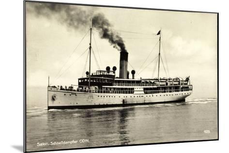 Salon Schnelldampfschiff Odin in Fahrt, Svea Line--Mounted Giclee Print