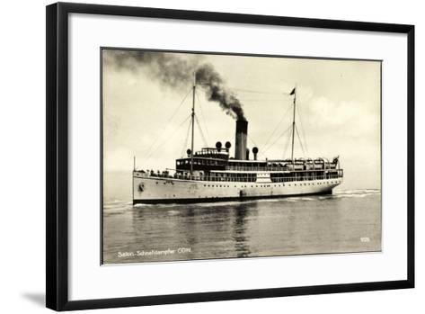 Salon Schnelldampfschiff Odin in Fahrt, Svea Line--Framed Art Print