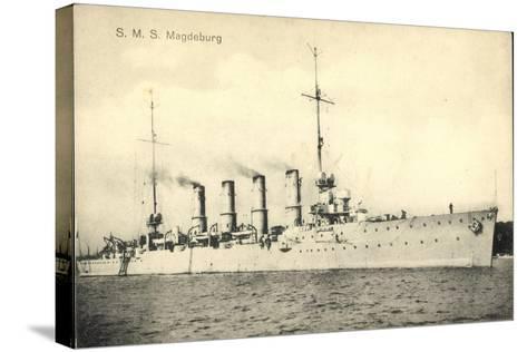 Deutsches Kriegsschiff, S.M.S. Magdeburg, 4 Schlote--Stretched Canvas Print