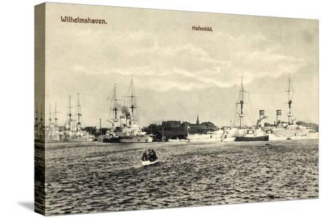 Wilhelmshafen Niedersachsen, Kriegsschiffe Im Hafen--Stretched Canvas Print