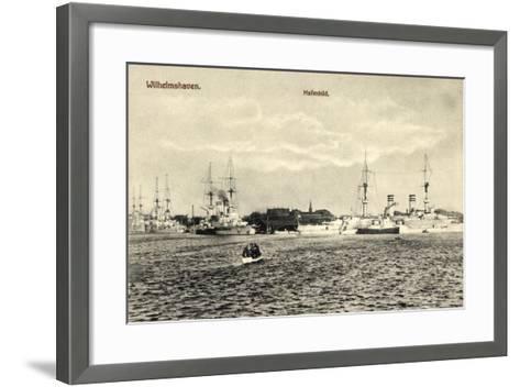 Wilhelmshafen Niedersachsen, Kriegsschiffe Im Hafen--Framed Art Print