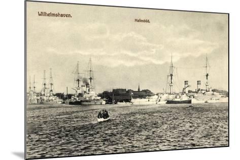 Wilhelmshafen Niedersachsen, Kriegsschiffe Im Hafen--Mounted Giclee Print