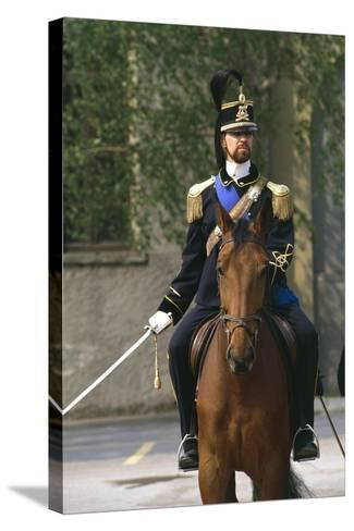 Batteries Riding Regiment Military Officer at Cuirassiers Gala--Stretched Canvas Print