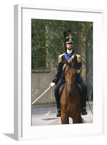 Batteries Riding Regiment Military Officer at Cuirassiers Gala--Framed Art Print