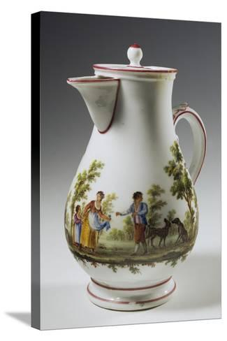 Coffee Pot Decorated with Rural Scenes Taken from Painter Maggiotta, 1780-1790--Stretched Canvas Print