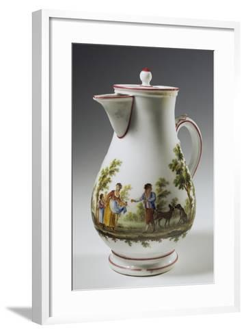 Coffee Pot Decorated with Rural Scenes Taken from Painter Maggiotta, 1780-1790--Framed Art Print