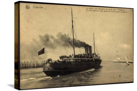 Ostende, Fährschiff Jan Breydel Nach England--Stretched Canvas Print