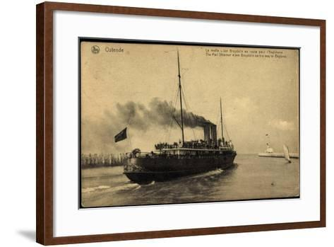 Ostende, Fährschiff Jan Breydel Nach England--Framed Art Print