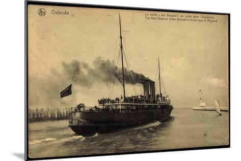 Ostende, Fährschiff Jan Breydel Nach England--Mounted Giclee Print