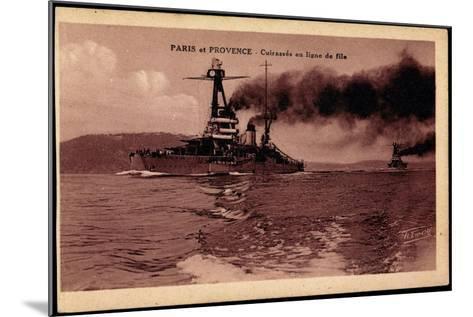 Französische Kriegsschiffe Paris Und Provence--Mounted Giclee Print