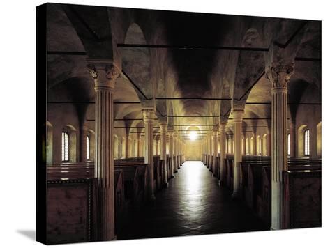 Italy, Emilia-Romagna, Cesena, Malatesta Library, Nuti's Hall, Designed by Matteo Nuti, 1447-1454--Stretched Canvas Print