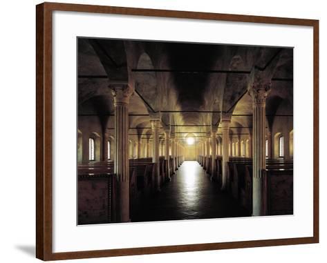 Italy, Emilia-Romagna, Cesena, Malatesta Library, Nuti's Hall, Designed by Matteo Nuti, 1447-1454--Framed Art Print
