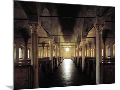 Italy, Emilia-Romagna, Cesena, Malatesta Library, Nuti's Hall, Designed by Matteo Nuti, 1447-1454--Mounted Giclee Print