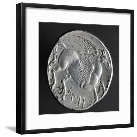 Greek Tristater Struck in Carthage in 260 BC, Depicting Pegaso, Recto, Electrum Coins--Framed Art Print
