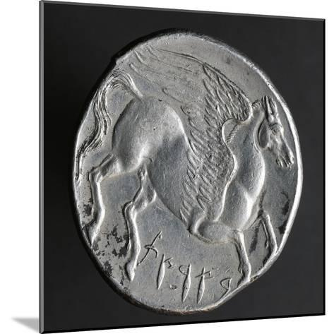 Greek Tristater Struck in Carthage in 260 BC, Depicting Pegaso, Recto, Electrum Coins--Mounted Giclee Print