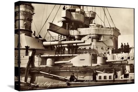 Kriegsschiff S. M. S. Ostfriesland, Artillerie--Stretched Canvas Print