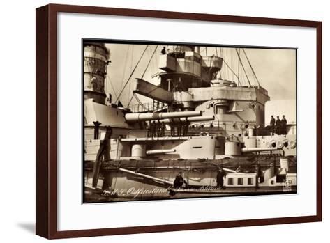 Kriegsschiff S. M. S. Ostfriesland, Artillerie--Framed Art Print