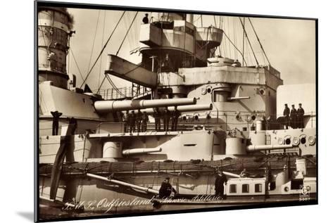 Kriegsschiff S. M. S. Ostfriesland, Artillerie--Mounted Giclee Print
