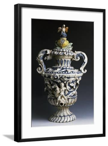Amphora-Shaped Sacristy Water Vessel, Ceramic, Italy--Framed Art Print