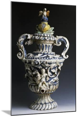 Amphora-Shaped Sacristy Water Vessel, Ceramic, Italy--Mounted Giclee Print