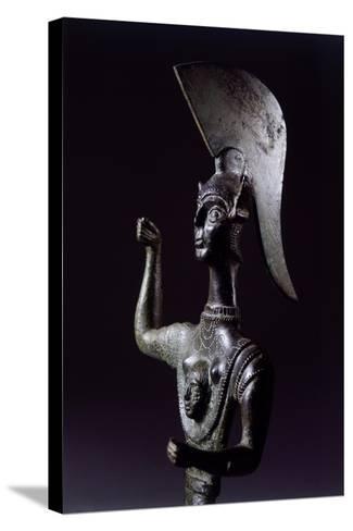 Bronze Statue Depicting Menerva in Battle, Detail--Stretched Canvas Print
