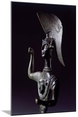 Bronze Statue Depicting Menerva in Battle, Detail--Mounted Giclee Print
