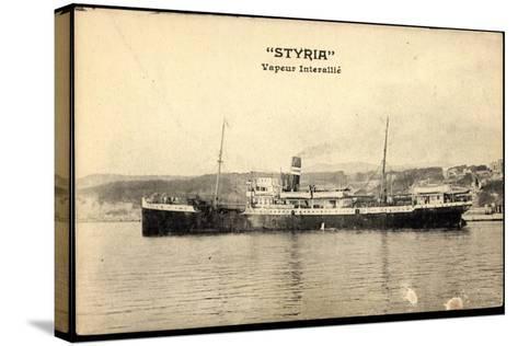 Dampfschiff Styria Am Hafen, Vapeur Interalli?--Stretched Canvas Print