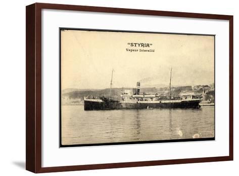 Dampfschiff Styria Am Hafen, Vapeur Interalli?--Framed Art Print