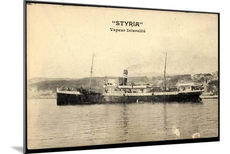 Dampfschiff Styria Am Hafen, Vapeur Interalli?--Mounted Giclee Print