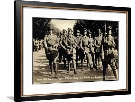 Prinz Eitel Friedrich, August Wilhelm, Stahlhelm--Framed Art Print