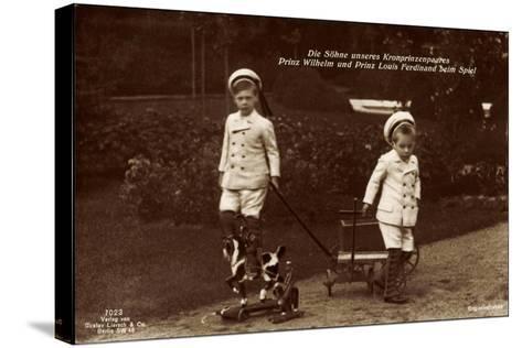 Prinz Wilhelm Und Louis Ferdinand Beim Spiel, 7023--Stretched Canvas Print