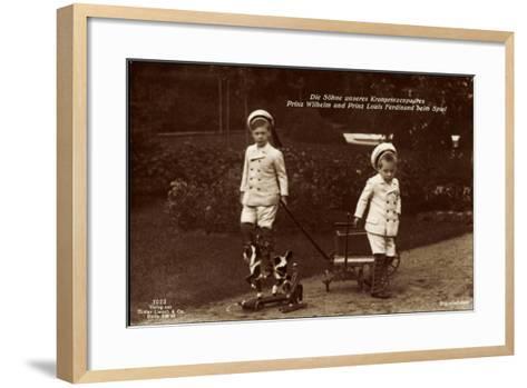 Prinz Wilhelm Und Louis Ferdinand Beim Spiel, 7023--Framed Art Print
