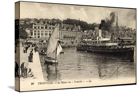 Trouville Seine Maritime, D?part Du Trouville, Havre--Stretched Canvas Print