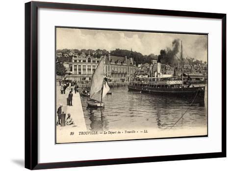 Trouville Seine Maritime, D?part Du Trouville, Havre--Framed Art Print