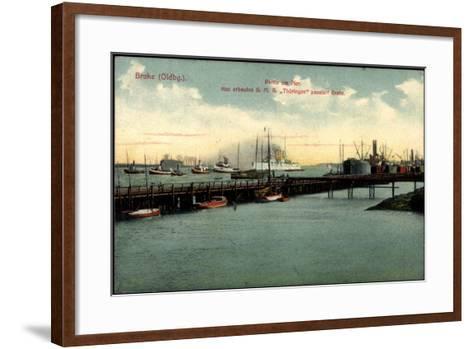 Bre Dötlingen, Partie Am Pier, S.M.S. Thüringen--Framed Art Print