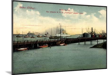 Bre Dötlingen, Partie Am Pier, S.M.S. Thüringen--Mounted Giclee Print
