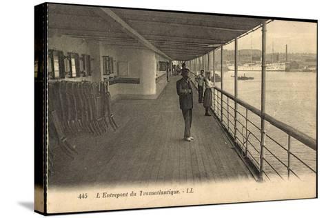 Entrepont Du Transatlantique, Dampfschiff, Promenade--Stretched Canvas Print
