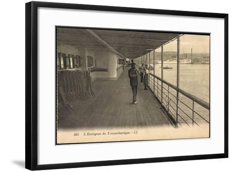 Entrepont Du Transatlantique, Dampfschiff, Promenade--Framed Art Print