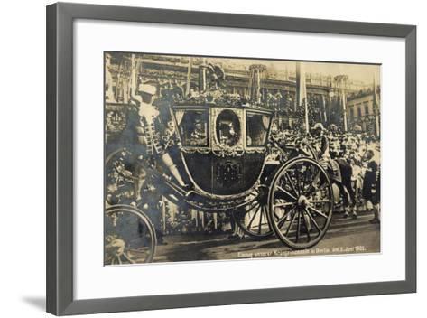 Einzug Der Kronprinzessin in Berlin 1905, Kutsche--Framed Art Print