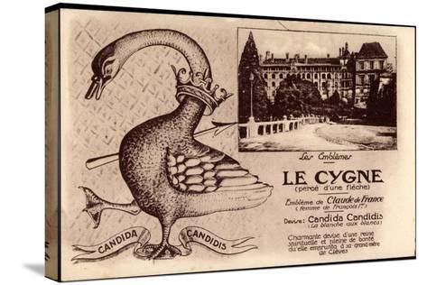 Kleve Am Niederrhein, Schwan, Candida Candidis, Embleme De Claude De France--Stretched Canvas Print