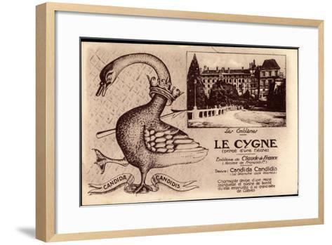 Kleve Am Niederrhein, Schwan, Candida Candidis, Embleme De Claude De France--Framed Art Print