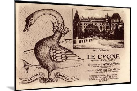 Kleve Am Niederrhein, Schwan, Candida Candidis, Embleme De Claude De France--Mounted Giclee Print