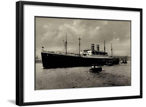 Hapag, Dampfschiff Albert Ballin Vor Anker, Kutter--Framed Art Print