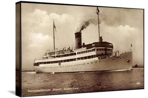 Reederei Braeunlich Stettin, Dampfer Rugard--Stretched Canvas Print