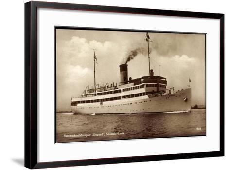 Reederei Braeunlich Stettin, Dampfer Rugard--Framed Art Print