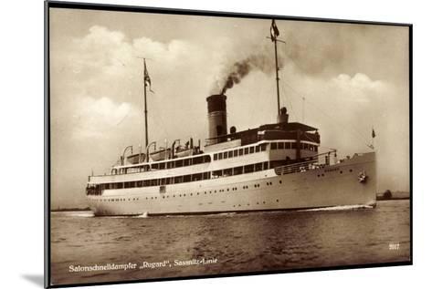 Reederei Braeunlich Stettin, Dampfer Rugard--Mounted Giclee Print