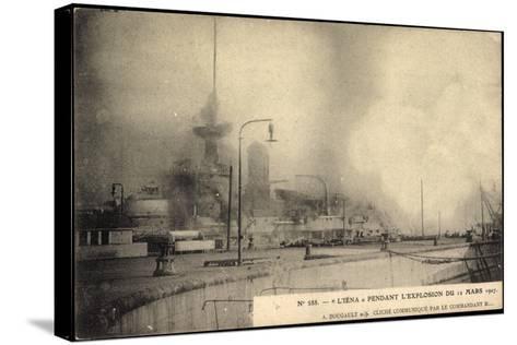 L'Iéna, Explosion Du 12 Mars 1907, Kriegsschiff--Stretched Canvas Print