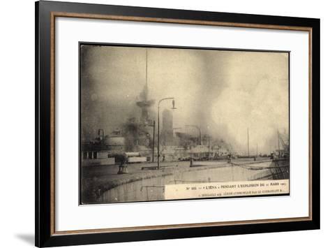 L'Iéna, Explosion Du 12 Mars 1907, Kriegsschiff--Framed Art Print
