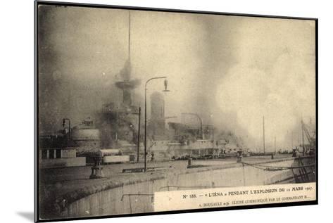 L'Iéna, Explosion Du 12 Mars 1907, Kriegsschiff--Mounted Giclee Print